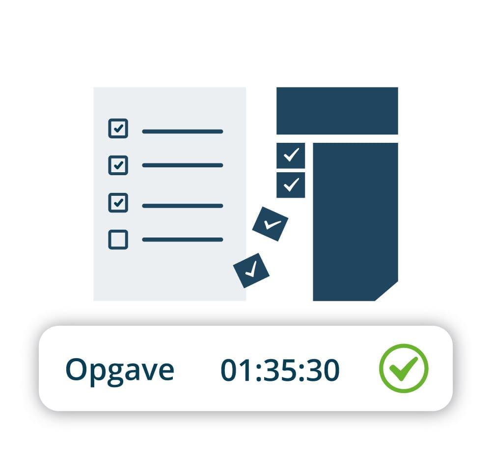 Registrér tiden på timeseddel eller klippekort